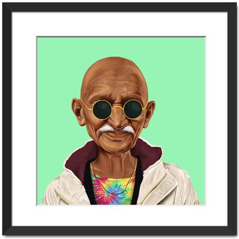 Hipster Mahatma Gandhi