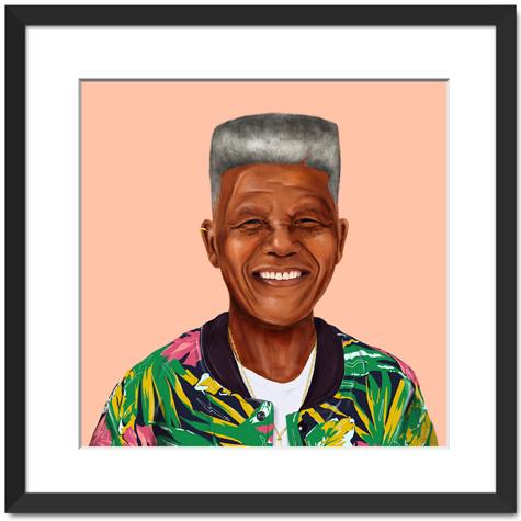 Hipster Nelson Mandela