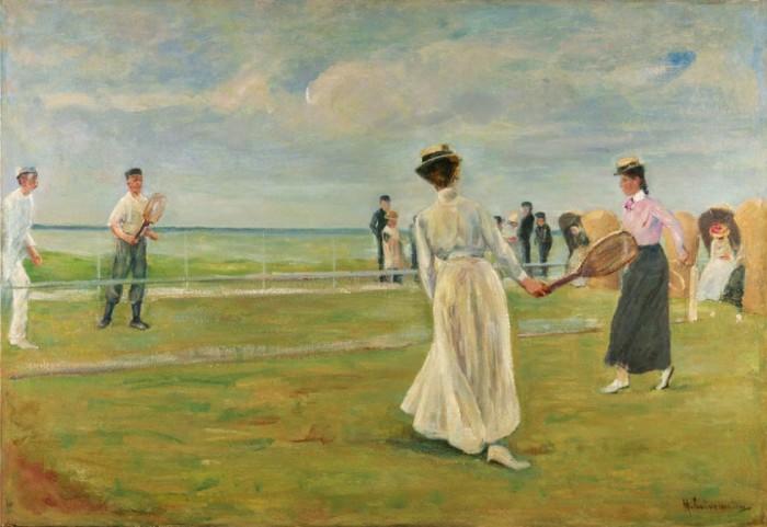 Max Liebermann, Tennisspieler am Meer, erste. Fassung, 1901, Öl auf Leinwand, 69,5 x 100,3 cm Museum Kunst der Westküste, Alkersum, Föhr, © Repro Lukas Spörl